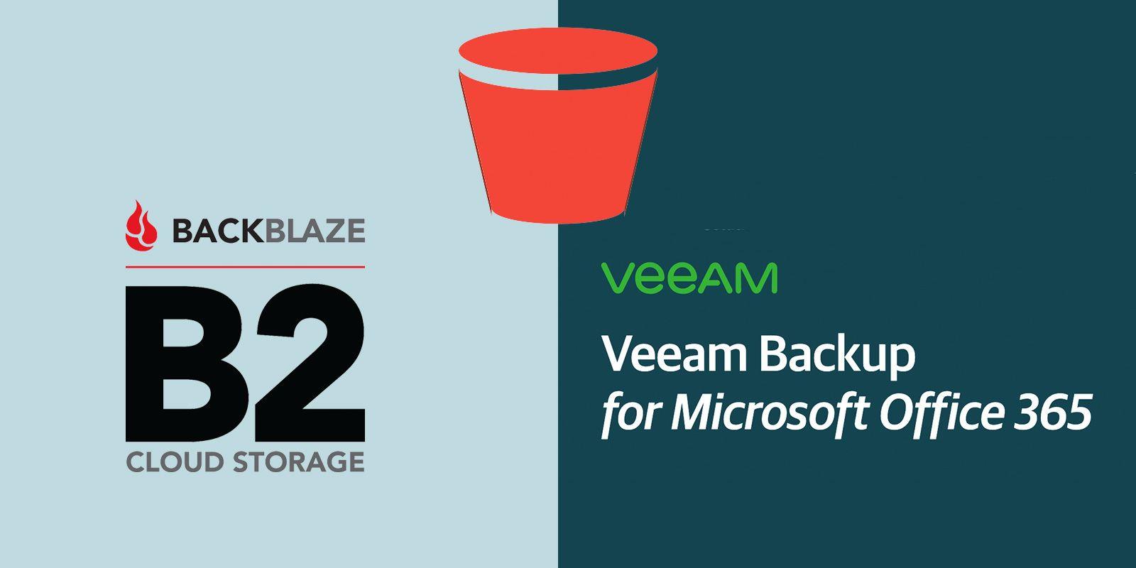 Backblaze B2 s3 with Veeam Backup for Office365