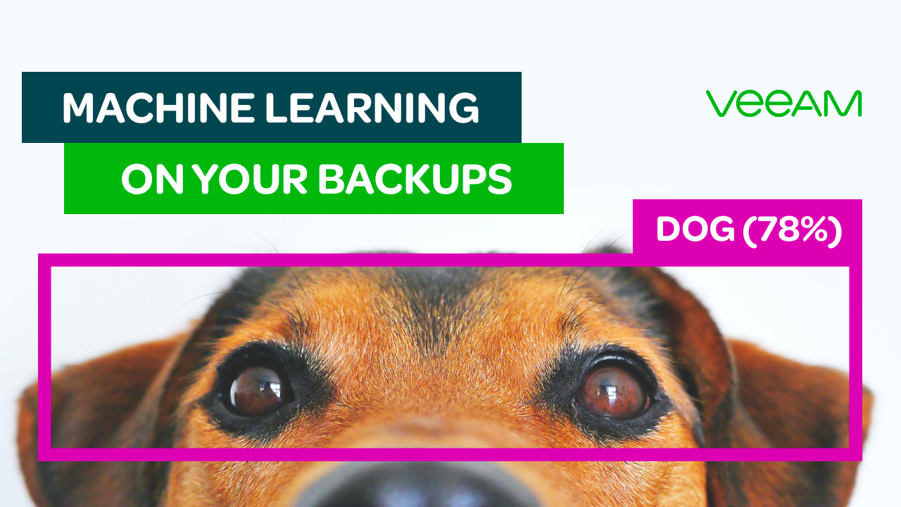 Machine learning on your Veeam backups? Sure! via the Data Integration API