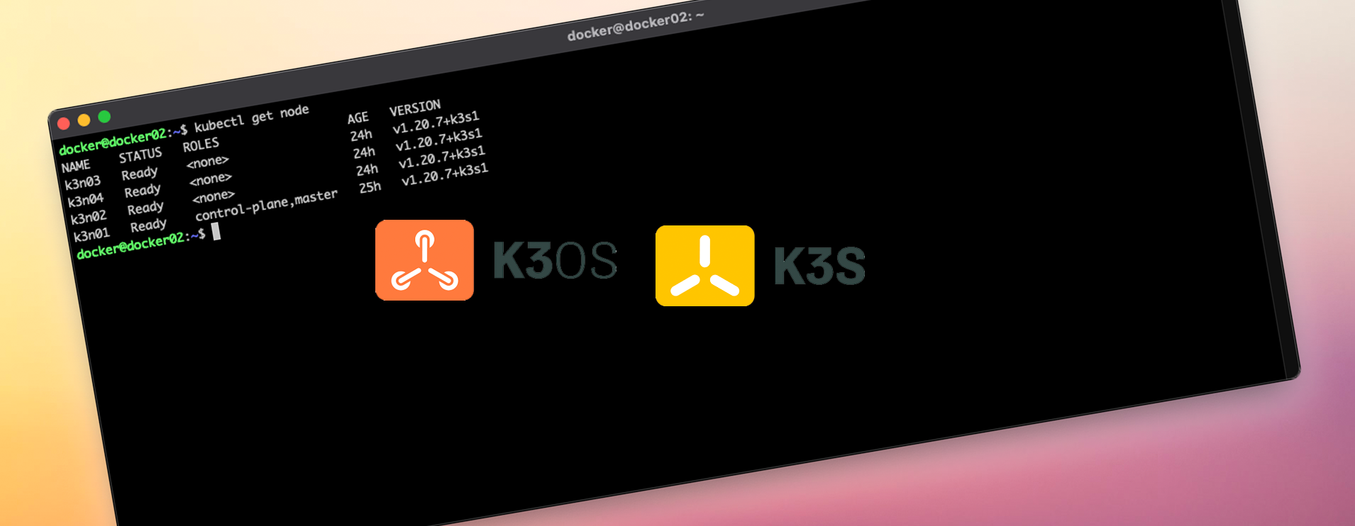 Setting up a Kubernetes cluster with K3s and K3os via Cloud-init