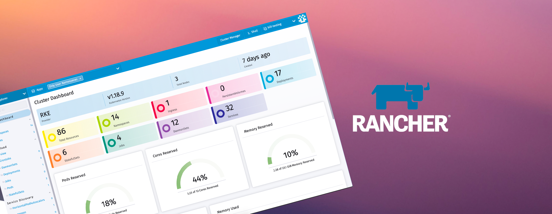 Deploying Rancher to manage a Kubernetes cluster