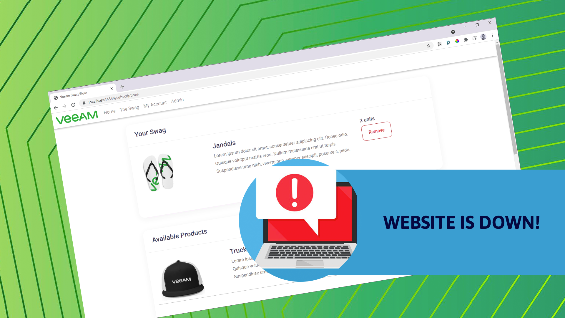 Instant Database Recovery with Veeam - Help the SWAG store is down!