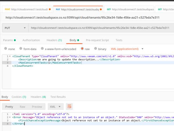 New TenantType node in CloudTenant Schema with Veeam Update 4