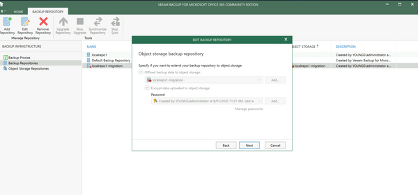 Setting up Object Storage Repository for Veeam Backup for Office365 v4