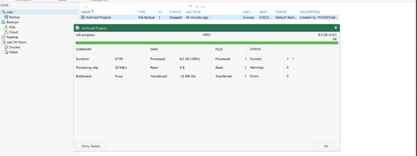 Setup NAS Backup with Veeam v10