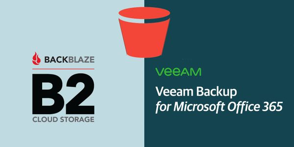 Backblaze B2 s3 with Veeam Backup for Office365