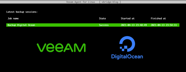 Backup Digital Ocean with Veeam Agent for Linux